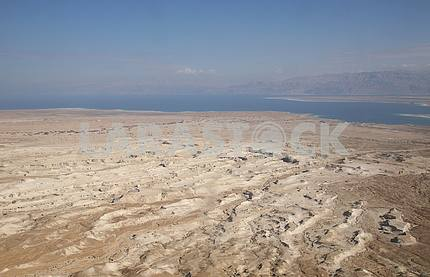 View on Dead sea from Masada, Israel