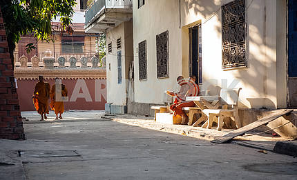 Street Buddhist monks