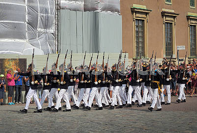 Royal Guard in Drottinholm, Sweden