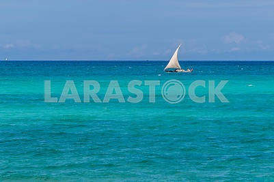 Sailing boat in the Indian Ocean