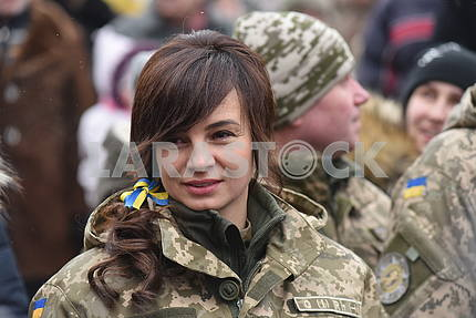 Participant of the march of defenders of the Fatherland in Lviv