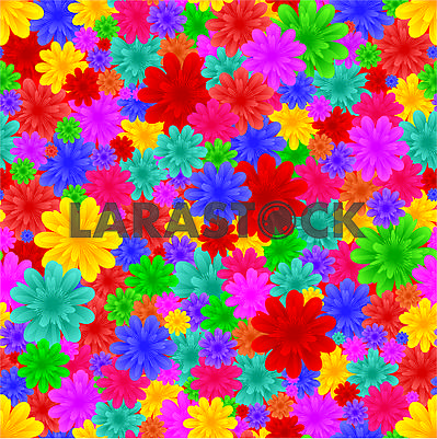 Floral seamless background, part 4