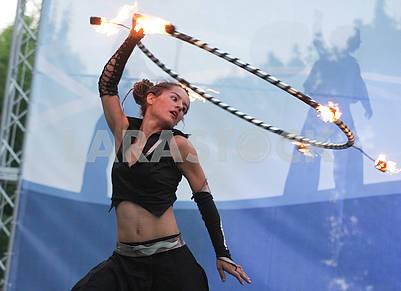 Fire show in Kiev