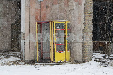 Telephone booths in Pripyat
