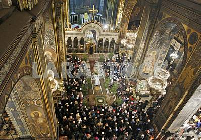 Christmas service at St. Vladimir Cathedral in Kiev.
