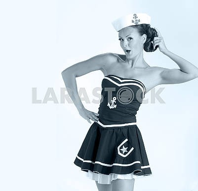 Sexy girl as sailor
