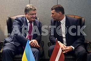 Petro Poroshenko and Raimonds Vējonis