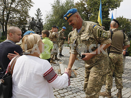 Discharged servicemen arrived to Kiev
