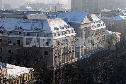 Building of the Security Service in the winter