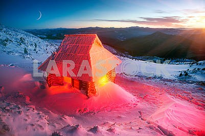Alpine hut for Christmas