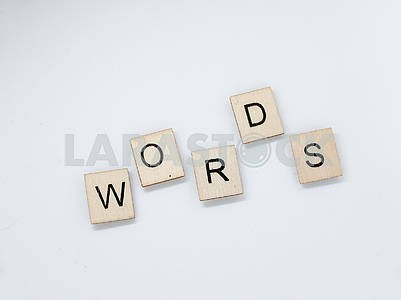 Words Wooden Letters