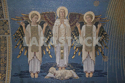 Angels, mosaic, Basilica of the Transfiguration, Mount Tabor, Israel
