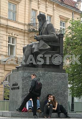 Hrushevsky Monument in Lviv