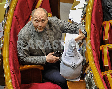 Borislav Bereza and the waiting doll in the Verkhovna Rada