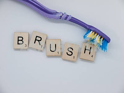 Scrabble Tiles: Brush