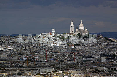 Hill of Montmartre and Basilica Sacre Coeur