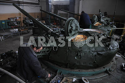 In the shop of the Kiev armored plant