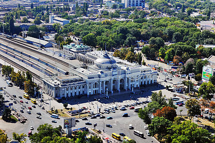 Odessa. Aerial view. Zheloznodorozhny Station September 27, 2011