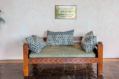 Sofa in the hotel in Zanzibar