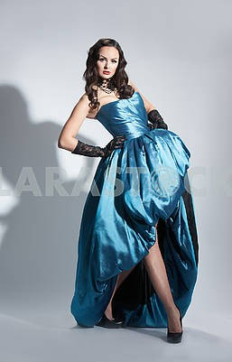Beautiful woman in evening dress