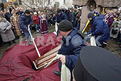 Funeral of Georgiy Gongadze in Kyiv.