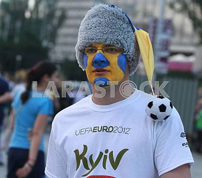 Fan of the Ukrainian team