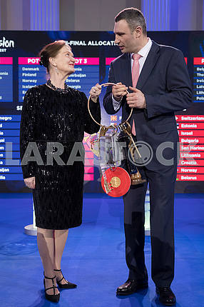 Eva-Louise Erlandsson Slorak and Vitali Klitschko