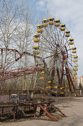 Chertovo wheel in the city of Pripyat