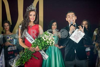 """Leading Nikita Dobrynin, the winner of the contest """"Miss Ukraine Universe 2014"""" Anna Andres"""